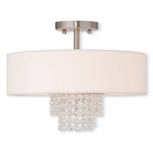 Livex Lighting Livex Lighting Carlisle Brushed Nickel Semi-Flushmount Light 51027-91