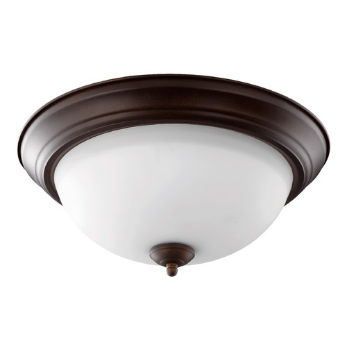 Quorum Lighting Quorum Lighting Oiled Bronze Flushmount Light 3063-15-86