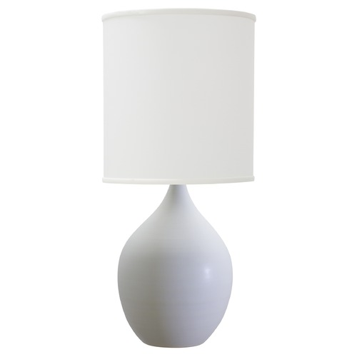 House of Troy Lighting House of Troy Scatchard White Matte Table Lamp with Cylindrical Shade GS401-WM