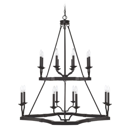 Capital Lighting Capital Lighting Ravenwood Black Iron Chandelier 419801BI
