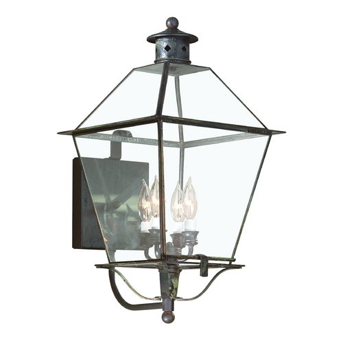 Troy Lighting Outdoor Wall Light with Clear Glass in Natural Rust Finish B8957NR
