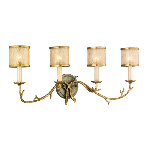 Corbett Lighting Corbett Lighting Parc Royale Gold and Silver Leaf Bathroom Light 66-64