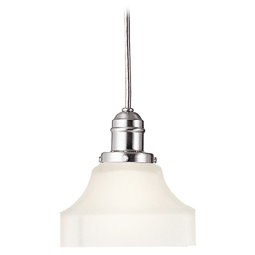 Hudson Valley Lighting Mini-Pendant Light with White Glass 3102-SN-119