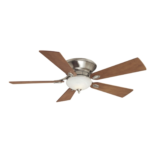 Minka Aire 52-Inch Ceiling Fan with Light with White Glass in Pewter Finish F711-PW
