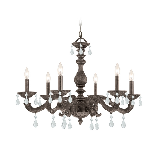 Crystorama Lighting Crystal Chandelier in Venetian Bronze Finish 5036-VB-CL-MWP