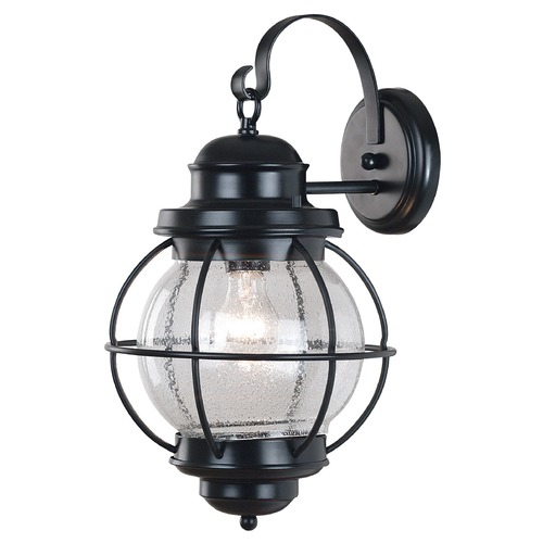 Kenroy Home Lighting Outdoor Wall Light with Clear Glass in Black Finish 90963BL