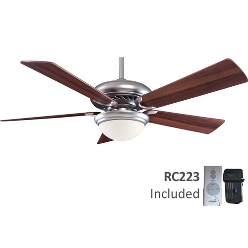 Minka Aire 52-Inch Ceiling Fan with Five Blades and Light Kit F569-BS/DW
