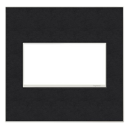 Legrand Adorne Legrand Adorne Black Leather 2-Gang Switch Plate AWM2GLE4
