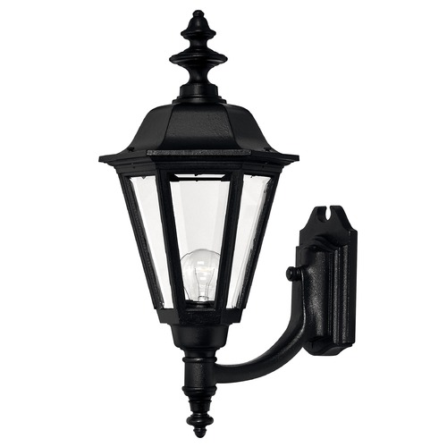 Hinkley Outdoor Wall Light with Clear Glass in Black Finish 1449BK
