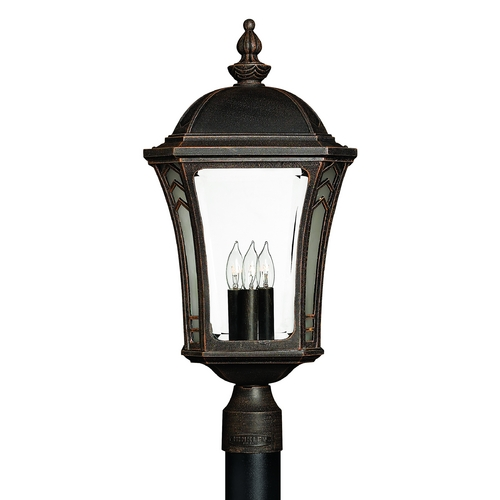 Hinkley Lighting Post Light with Clear Glass in Mocha Finish 1331MO