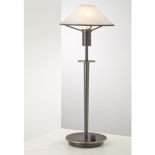 Holtkoetter Lighting Holtkoetter Modern Table Lamp with Alabaster Glass in Hand-Brushed Old Bronze Finish 6514 HBOB AWH