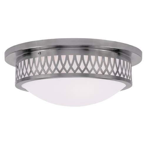 Livex Lighting Livex Lighting Westfield Brushed Nickel Flushmount Light 7353-91