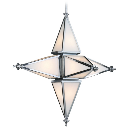 Cyan Design Cyan Design Star Chrome Pendant Light with Triangle Shade 04108