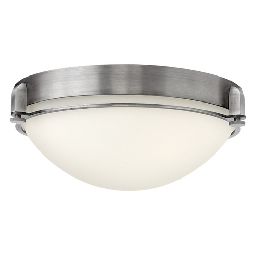 Hinkley Lighting Hinkley Lighting Logan Antique Nickel Flushmount Light 3903AN