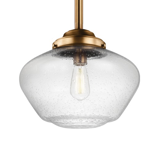 Feiss Lighting Feiss Alcott Aged Brass Pendant Light P1388AGB