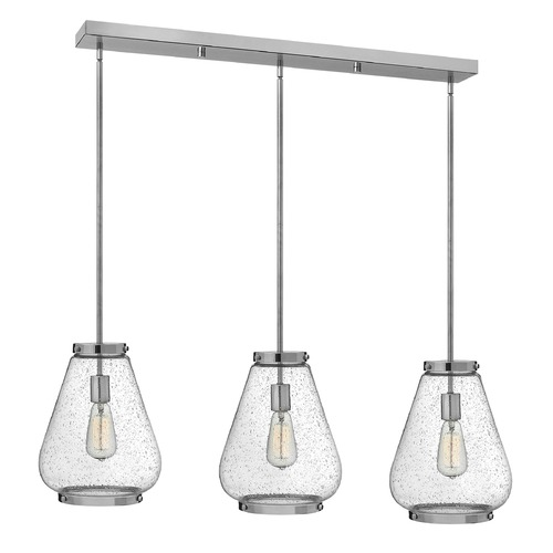 Hinkley Lighting Hinkley Lighting Finley Chrome Mini-Pendant Light with Urn Shade 3685CM