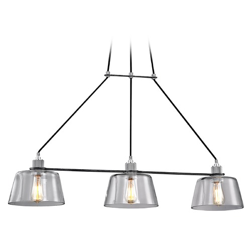 Troy Lighting Troy Lighting Audiophile Old Silver / Aluminum Island Light with Empire Shade F6154