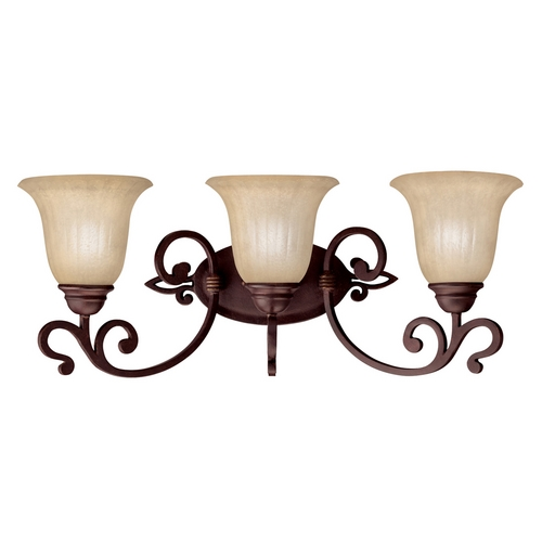 Kichler Lighting Kichler Bathroom Light with Beige / Cream Glass in Carre Bronze Finish 5989CZ