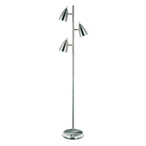 Lite Source Lighting Lite Source Lighting Bullets Polished Steel Floor Lamp with Oval Shade LS-9406PS