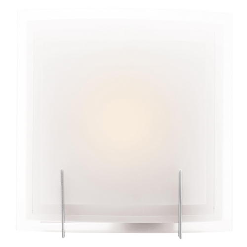Access Lighting Modern Bathroom Light with White Glass in Brushed Steel Finish 62215-BS/FST