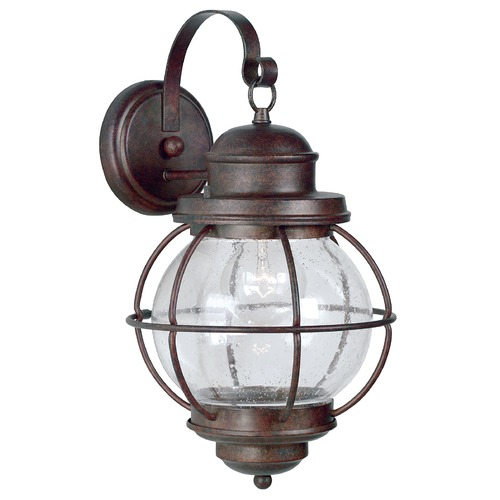 Kenroy Home Lighting Outdoor Wall Light with Clear Glass in Gilded Copper Finish 90963GC