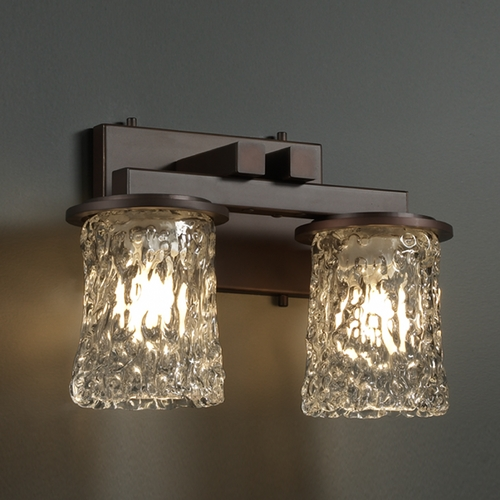 Justice Design Group Justice Design Group Veneto Luce Collection Bathroom Light GLA-8772-16-CLRT-DBRZ