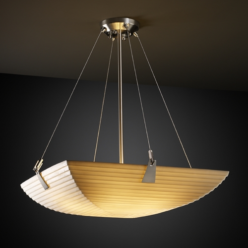 Justice Design Group Justice Design Group Porcelina Collection Pendant Light PNA-9641-25-SAWT-NCKL