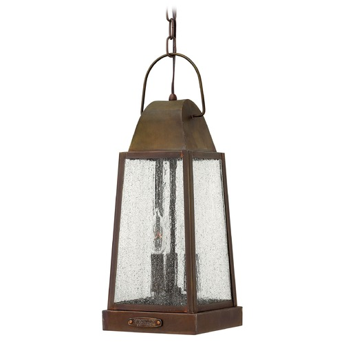 Hinkley Lighting Outdoor Hanging Light with Clear Glass in Sienna Finish 1772SN