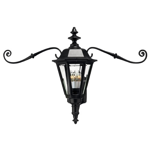 Hinkley Outdoor Wall Light with Clear Glass in Black Finish 1445BK