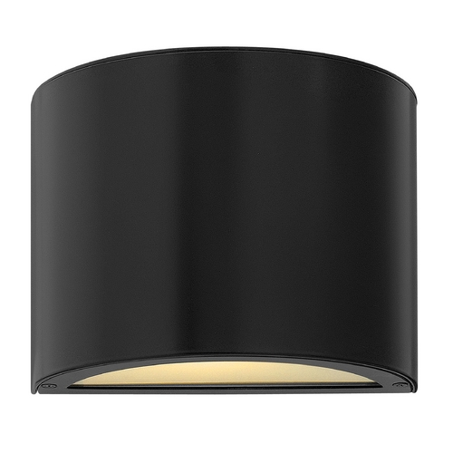 Hinkley Lighting Modern Outdoor Wall Light with White Glass in Satin Black Finish 1666SK-GU24
