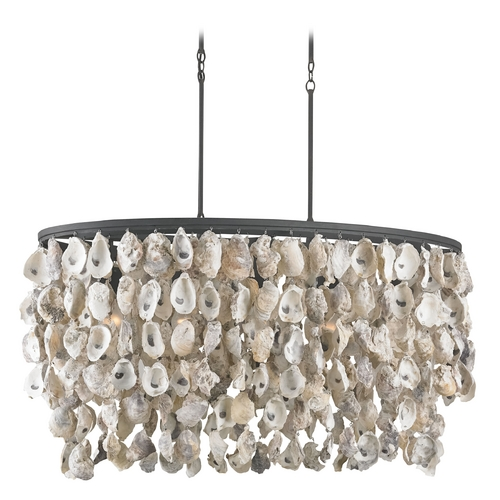 Currey and Company Lighting Currey and Company Lighting Natural / Black Smith Pendant Light 9492