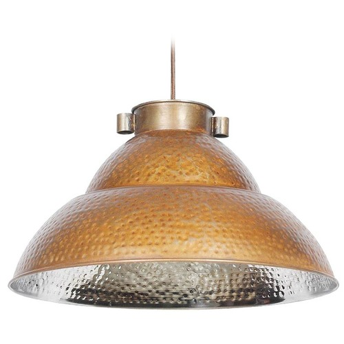 Kenroy Home Lighting Kenroy Home Lighting Indus Bronze and Nickel Pendant Light 92074BRZNIK
