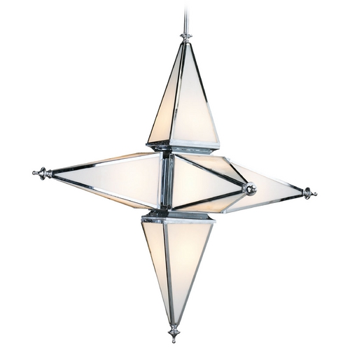 Cyan Design Cyan Design Star Chrome Pendant Light with Triangle Shade 04109