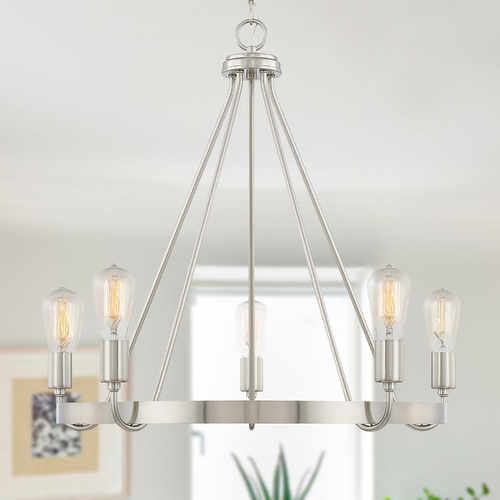 HomePlace by Capital Lighting Homeplace By Capital Lighting Tanner Brushed Nickel Chandelier 420061BN