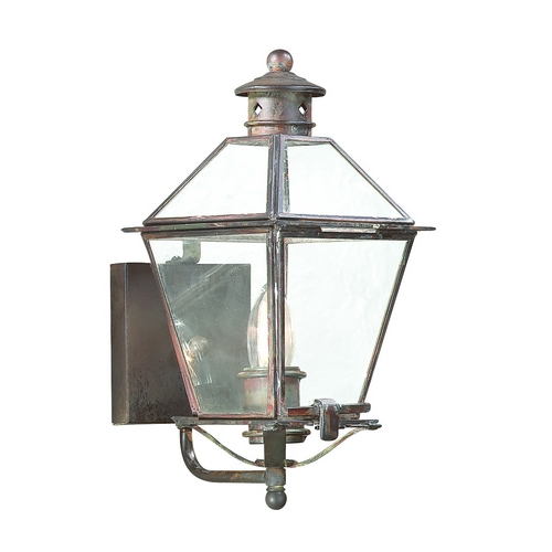 Troy Lighting Outdoor Wall Light with Clear Glass in Natural Rust Finish B8950NR