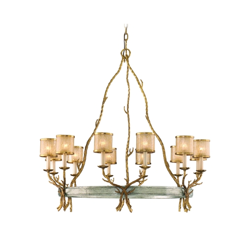 Corbett Lighting Corbett Lighting Parc Royale Gold and Silver Leaf Chandelier 66-012
