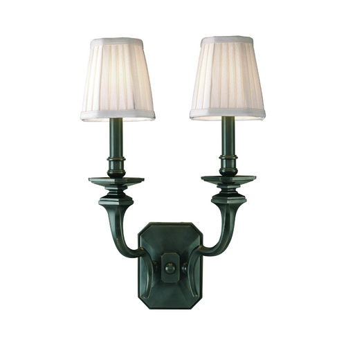 Hudson Valley Lighting Sconce Wall Light with White Shades in Old Bronze Finish 382-OB