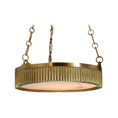 Hudson Valley Lighting Drum Pendant Light in Aged Brass Finish 516-AGB