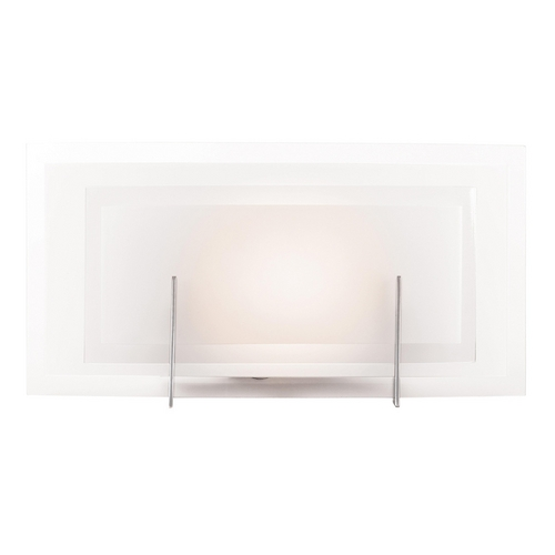 Access Lighting Modern Bathroom Light with White Glass in Brushed Steel Finish 62216-BS/FST