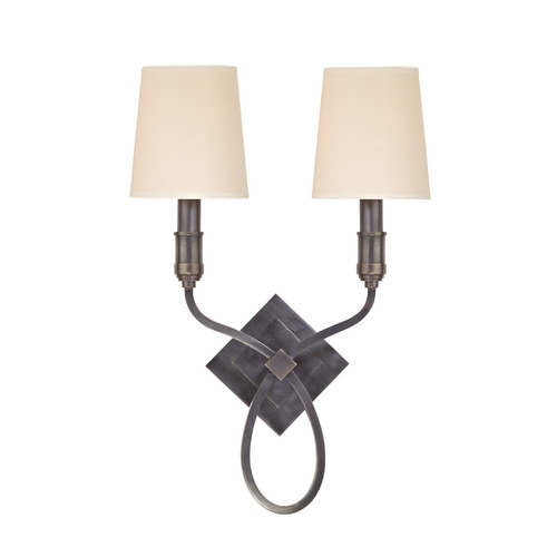 Hudson Valley Lighting Sconce Wall Light with Beige / Cream Paper Shades in Old Bronze Finish 422-OB