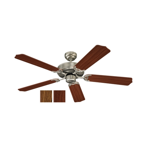 Sea Gull Lighting Ceiling Fan Without Light in Brushed Nickel Finish 15030-962
