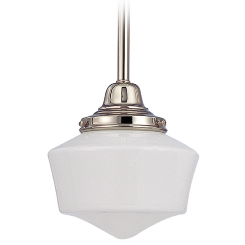 Design Classics Lighting 6-Inch Period Lighting Schoolhouse Mini-Pendant Light FC3-15 / GF6