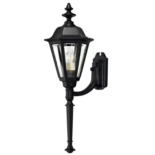 Hinkley Lighting Outdoor Wall Light with Clear Glass in Black Finish 1440BK