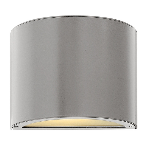Hinkley Lighting Modern Outdoor Wall Light with White Glass in Titanium Finish 1666TT-GU24
