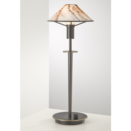 Holtkoetter Lighting Holtkoetter Modern Table Lamp with White Glass in Hand-Brushed Old Bronze Finish 6514 HBOB MRB