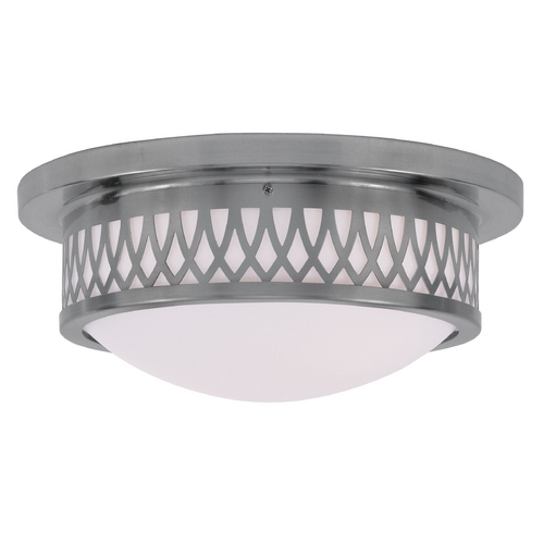 Livex Lighting Livex Lighting Westfield Brushed Nickel Flushmount Light 7352-91