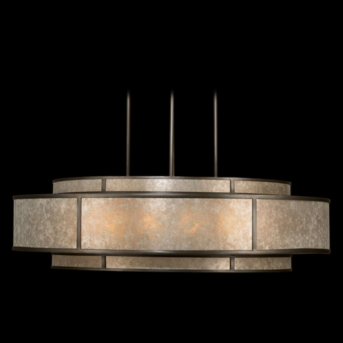 Fine Art Lamps Fine Art Lamps Singapore Moderne Brown Patinated Bronze Pendant Light with Drum Shade 600140ST