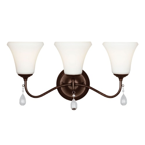 Sea Gull Lighting Sea Gull Lighting West Town Burnt Sienna Bathroom Light 4410503-710