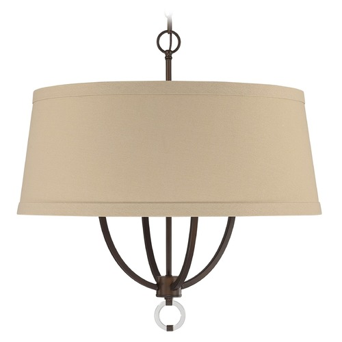 Capital Lighting Capital Lighting Taylor Burnished Bronze Pendant Light with Drum Shade 4594BB-605