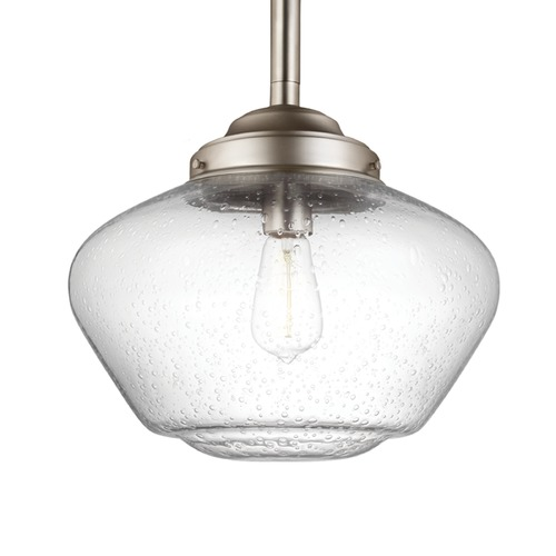 Feiss Lighting Feiss Alcott Satin Nickel Pendant Light P1388SN